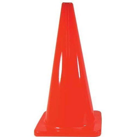 "28"" Orange Traffic Cone - Ohio Fitness Garage - Olympia -Heavyweight Orange Cones Equipment"