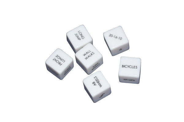 (2 Sets) Swole Dice Set Of 6 Laser Printed 19mm Dice 46K Random Fitness Routines 5 No-Equipment 1 Equipment Add Variety Spontaneity To Workout Gym Strength Training Weight Lifting Circuit Training Toy Ohio Fitness Garage crossfit dice dice workout exercise dice fitness dice Swole Dice wod dice workout cards workout dice $24.11 Ohio Fitness Garage
