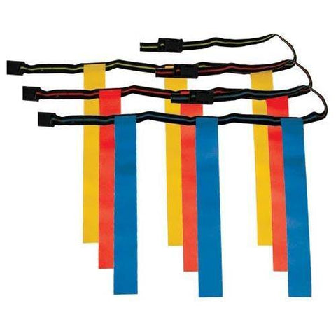 "3-Flag Rip Flap Football Set of 12 - Med 40"" - Ohio Fitness Garage - Olympia -Deluxe 3-Flag Rip-Off Set Equipment"
