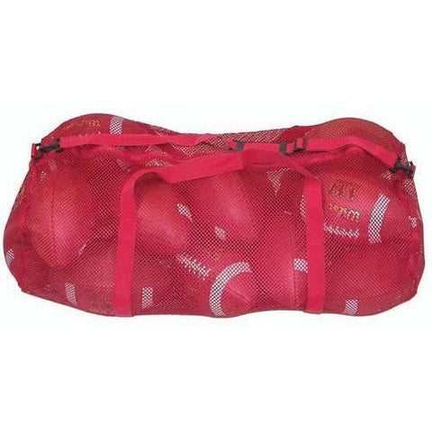 "36"" x 15"" Zippered Mesh Bag - Red - Ohio Fitness Garage - Olympia -Mesh Bags Equipment"