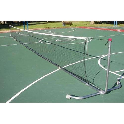 42' Heavy-Duty Portable Tennis Posts w/ Net - Ohio Fitness Garage - Olympia -Portable Tennis Net Systems Equipment