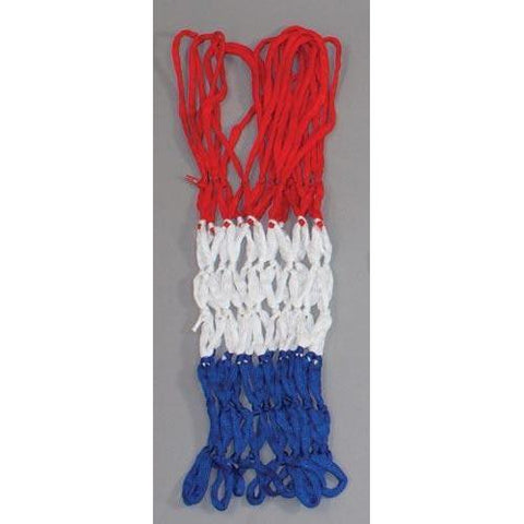 4mm Economy Basketball Net - Red/White/Blue - Ohio Fitness Garage - Olympia -Basketball Nets Equipment