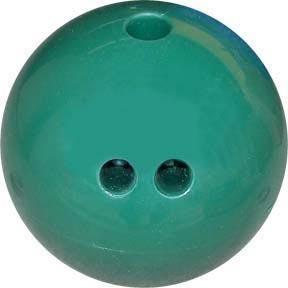 5 lb. Cosom Rubberized Plastic Bowling Ball - Dark Green - Ohio Fitness Garage - Olympia -Bowling Balls Equipment