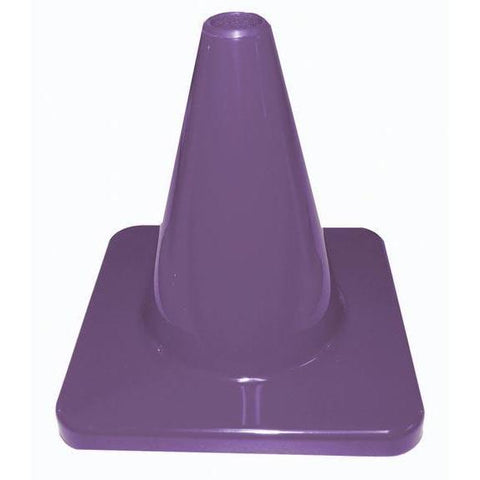 "6"" Traffic Cone - Purple - Ohio Fitness Garage - Olympia -Colored Flexible & Heavyweight Cones Equipment"