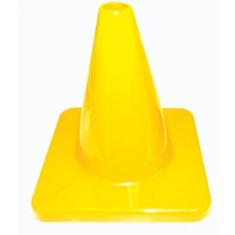 "6"" Traffic Cone - Yellow - Ohio Fitness Garage - Olympia -Colored Flexible & Heavyweight Cones Equipment"