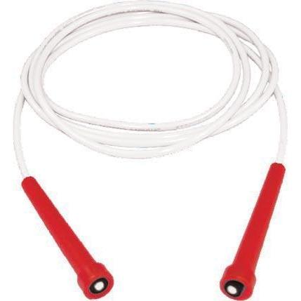 7' Kanga Speed Rope - Red Handle, White Cord - Ohio Fitness Garage - Olympia -Kanga Ropes Equipment