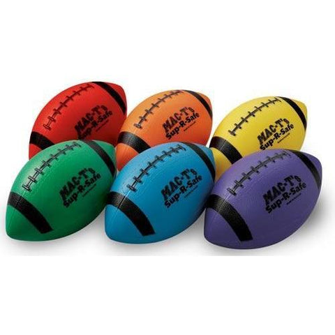 "8"" Sup-R-Safe Youth Footballs - Set of 6 - Ohio Fitness Garage - Olympia -Misc. Fun Balls Equipment"