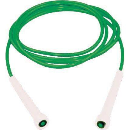 9' Kanga Deluxe Speed Rope - White Handle, Green Cord - Ohio Fitness Garage - Olympia -Kanga Ropes Equipment