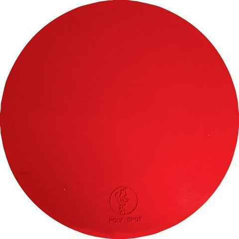 "9"" Poly Spots - Red (Dozen) - Ohio Fitness Garage - Olympia -Instructors Deluxe Poly Spots Equipment"