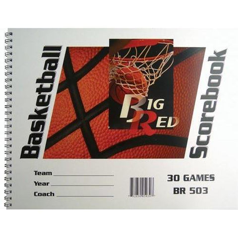 "9.25"" x 12"" Basketball Scorebooks - Ohio Fitness Garage - Olympia -Big Red Scorebooks Equipment"