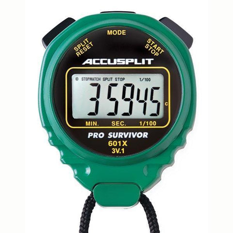 ACCUSPLIT Pro Timer - Green - Ohio Fitness Garage - Olympia -5 to 100 Memory Stopwatches Equipment