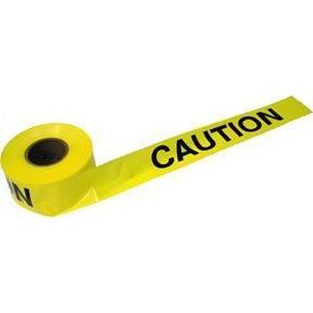 Yellow Barrier Tape (Caution) 1000' Roll