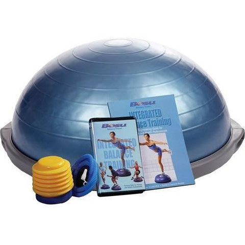 Blue BOSU Pro Balance Ball - DVD - Training Book Set - Ohio Fitness Garage - Olympia -BOSU Ballast Balls & Trainers Equipment