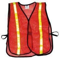 Budget Mesh Reflective Vest - Orange - Ohio Fitness Garage - Olympia -Reflective Safety/Running Vests Equipment