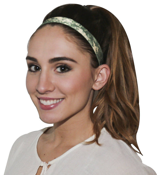 Camo Black OFG 1 INCH Elastic Sports Headband No Slip with Silicone Grip Polyester Blend for Adult Teen High Performance Hairband Sports Ohio Fitness Garage Fitness Headband No Slip Headband Sports Headband $19.97 Ohio Fitness Garage