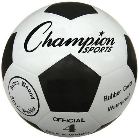Champion Sports - Budget Rubber Soccer Ball - Size 4