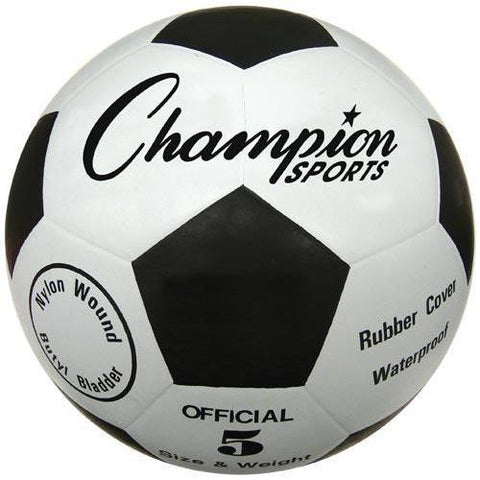 Champion Sports - Budget Rubber Soccer Ball - Size 5 - Ohio Fitness Garage - Olympia -Budget Soccer Balls Equipment