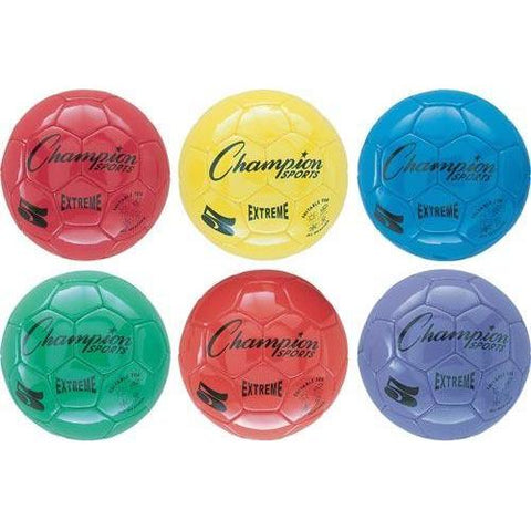 Champion Sports - Extreme Soccer Balls - Size 5 (Set 6) - Ohio Fitness Garage - Olympia -Budget Soccer Balls Equipment