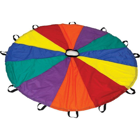 Deluxe Parachute - 12' Diameter (12 Handles) - Ohio Fitness Garage - Olympia -Parachutes Equipment