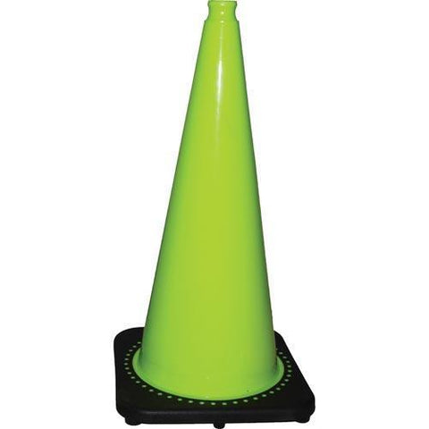 "Fluorescent Green Cone - 28""H (14"" base) - Ohio Fitness Garage - Olympia -Fluorescent Green Traffic Cones Equipment"