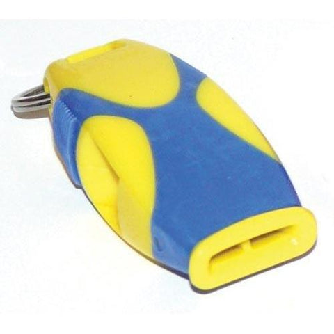 Fox 40 Sharx Whistle - Yellow/Blue - Ohio Fitness Garage - Olympia -Fox Sharx Official's Whistles Equipment
