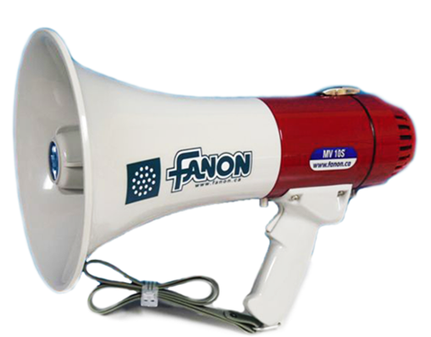 Portable Fanon 600 Yard Megaphone with Siren - 16 Watts - Olympia Sports