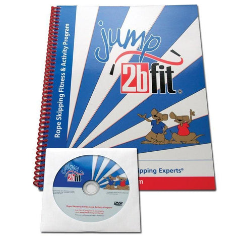 Jump2bFit Rope Skipping Fitness Activity Manual w/ DVD - Ohio Fitness Garage - Olympia -Jump Rope Accessories Equipment