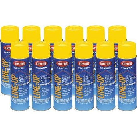 Krylon Athletic Field Marking Paint - Yellow (Case/12) - Ohio Fitness Garage - Olympia -Athletic Paint Equipment