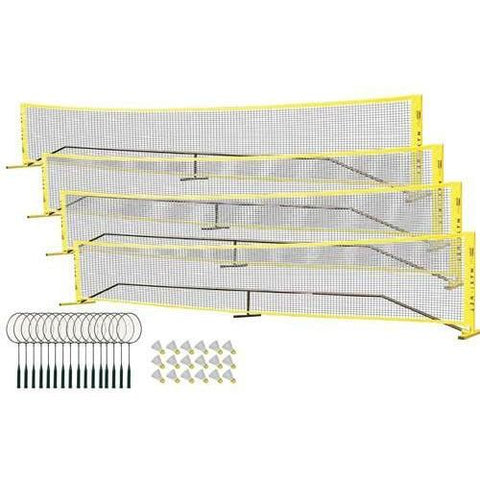 "Maxi-Net Badminton Pack - 4 Court Set w/ 24"" Rackets - Ohio Fitness Garage - Olympia -Badminton Sets & Kits Equipment"