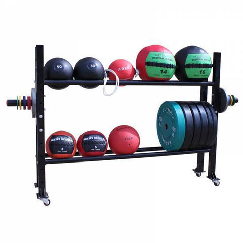 Medicine Ball and Weight Plate Storage Rack - Ader Fitness - Ohio Fitness Garage - Ader Fitness -Racks Equipment