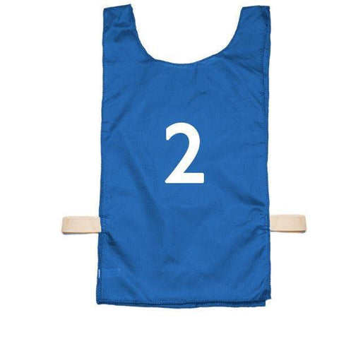Nylon Numbered Pinnies - Blue (1-12) - Ohio Fitness Garage - Olympia -Nylon Pinnies Equipment