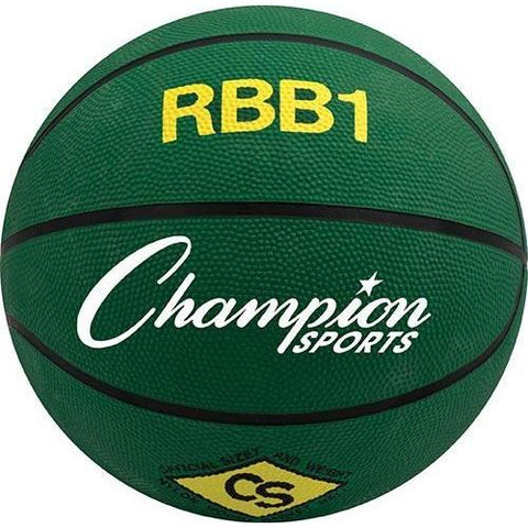 Official Olympia Basketball - Green - Ohio Fitness Garage - Olympia -Rubber Basketballs (Olympia One-Color) Equipment