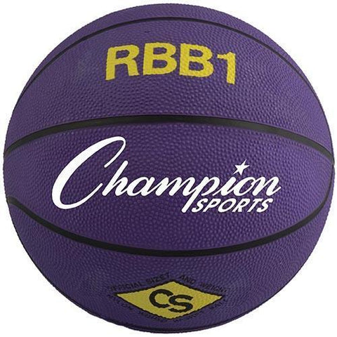 Official Olympia Basketball - Purple - Ohio Fitness Garage - Olympia -Rubber Basketballs (Olympia One-Color) Equipment