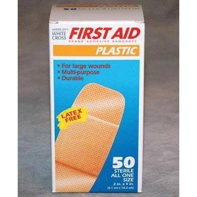 "Plastic Bandages - 2"" x 4.5"" (Box of 50) - Ohio Fitness Garage - Olympia -First Aid Kit Replenishables Equipment"