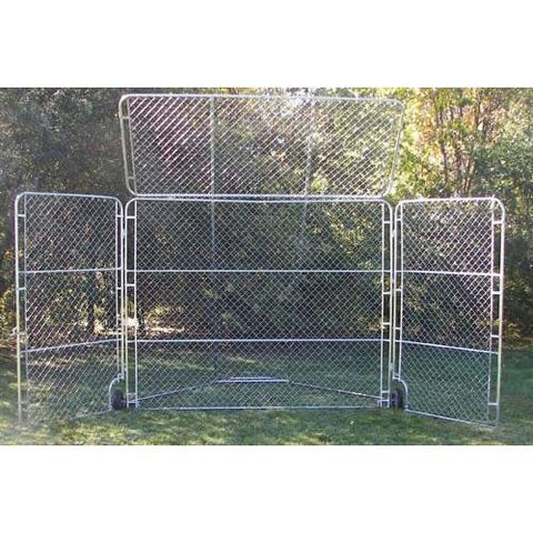 Portable Foldable Baseball Backstop with Top & Side Panels (Batting Cage) 12x18 Feet - Olympia Sports
