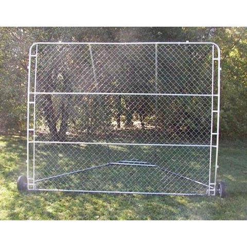 Non Folding Portable Baseball Backstop 10' x 8' with wheels