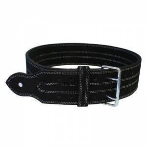 Power Weight Lifting Leather Belt- Black - ADER FITNESS