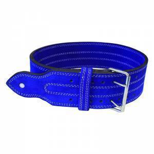 Power Weight Lifting Leather Belt- Blue - ADER FITNESS