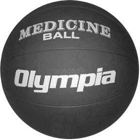 Rubber Medicine Ball - 6K (12-13 lbs.) (black)