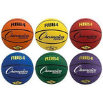 Set of 6 Colored Basketballs - Intermediate Size - Ohio Fitness Garage - Olympia -Rubber Basketballs Equipment