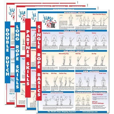 Set of Four Jump Rope Posters - Ohio Fitness Garage - Olympia -Jump Rope Accessories Equipment