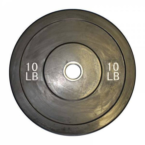 (Single One) Olympic Black Solid Rubber Bumper Plates - Ader Fitness - Ohio Fitness Garage - Ader Fitness -Olympic Weight Plates Equipment