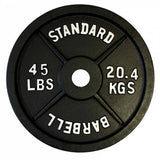(Single One) Olympic LB Cast Iron Plates- Black - Ader Fitness - Ohio Fitness Garage - Ader Fitness -Olympic Weight Plates Equipment