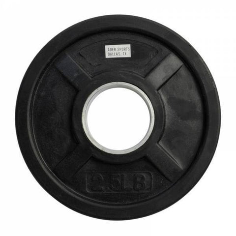 (Single One) Olympic Rubber Coated Grip Plates - Ader Fitness - Ohio Fitness Garage - Ader Fitness -Olympic Weight Plates Equipment