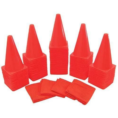 Soccer Cone Kit - 104 Pc. - Ohio Fitness Garage - Olympia -Lightweight Poly Cones Equipment