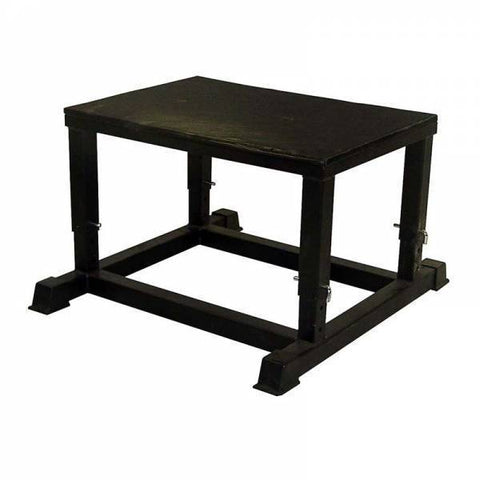 "Steel Adjustable Plyo Box - Squat Box Black - Ader - (14"" - 20"")"