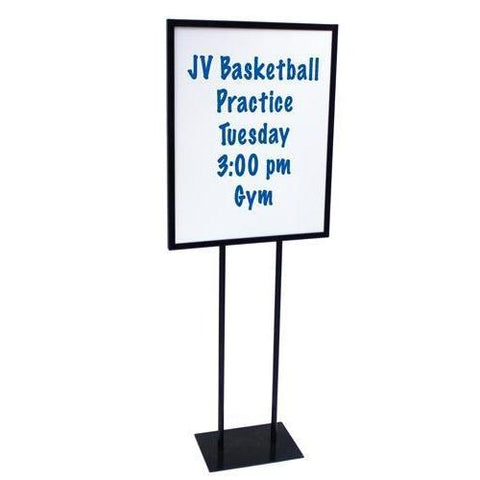 Steel Sign Holder w/ Dry Erase Boards - Ohio Fitness Garage - Olympia -Dry-Erase Boards Equipment