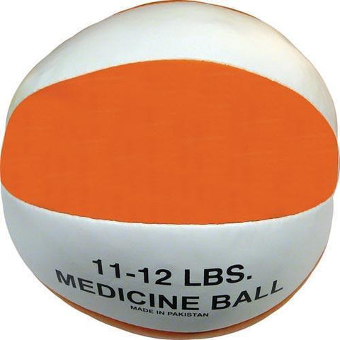 Syn. Leather Medicine Ball - 11-12 lbs. (orange) - Ohio Fitness Garage - Olympia -Synthetic Leather Medicine Balls Equipment