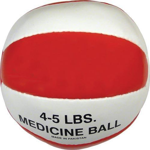 Syn. Leather Medicine Ball - 4-5 lbs. (red) - Ohio Fitness Garage - Olympia -Synthetic Leather Medicine Balls Equipment