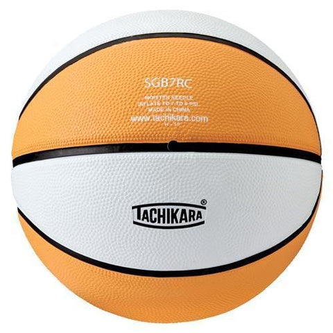 Tachikara Rubber Basketball (Intermediate) (Gold/White) - Ohio Fitness Garage - Olympia -Rubber Basketballs (Tachikara Two-Color) Equipment